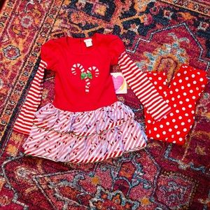 NWT Youngland Christmas outfit size 6